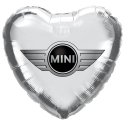 Printed Foil Balloons - Heart 18 inch