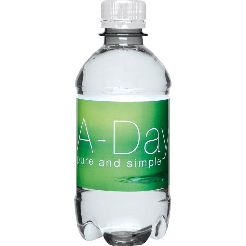 Clear Bottle - White Top