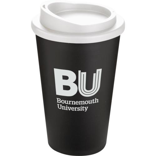 Black Mug - White Lid
