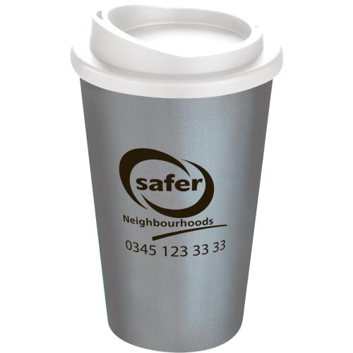 Silver Mug (877) - White Lid