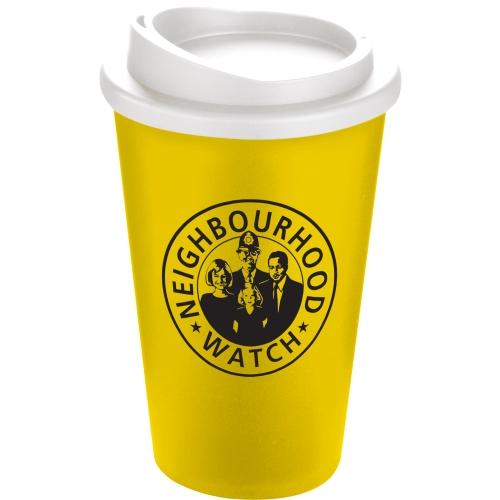 Yellow Mug (114) - White Lid
