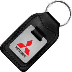 Die Stamped Genuine Leather Small Rectangle Keyfobs