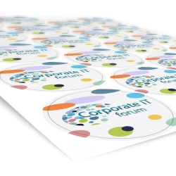 Printed Paper Stickers - 50mm