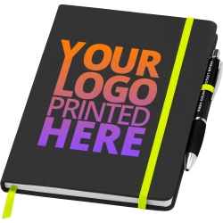 A5 Full Colour Noir Notebook with Free Curvy Pen
