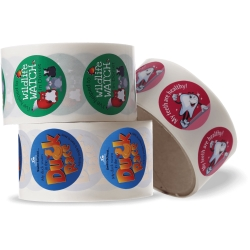 Circle Roll Stickers - 37mm