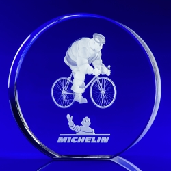 3D Engraved Crystal Award Disc