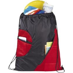 Kick Zippered Pockets Drawstring Backpack