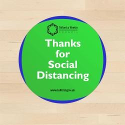 Social Distancing Non Slip Printed Floor Stickers - A4