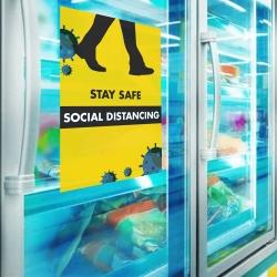 Social Distancing A4 Vinyl Wall Stickers