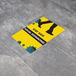 Social Distancing A4 Anti-Slip Floor Sticker
