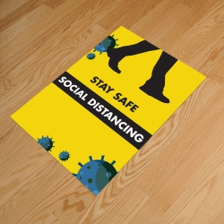 Social Distancing A3 Anti-Slip Floor Sticker