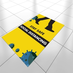 Social Distancing A2 Anti-Slip Floor Sticker