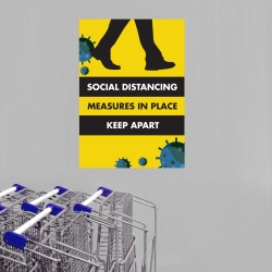 Social Distancing Polyprop Posters - A2