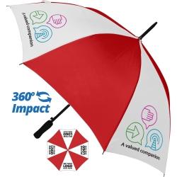 Budget Automatic Walking Umbrella - 4 Panel Print