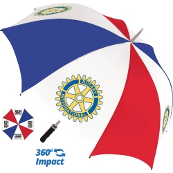 Bedford Golf Promotional Umbrella - 4 Panel Print