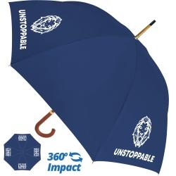 Budget Woodstick Umbrella - 4 Panel Print