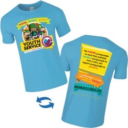 Coloured Full Colour T-Shirt - Front and Back Print