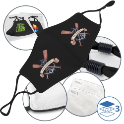 Triple-Layer Adjustable and Reusable Face Mask