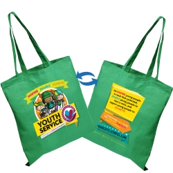 Natural Photo Cotton Printed Tote Bags 5oz - 2 Sided