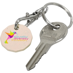 Biodegradable Trolley Coin Keyring