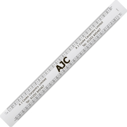 Oval Scale Rule - 300mm