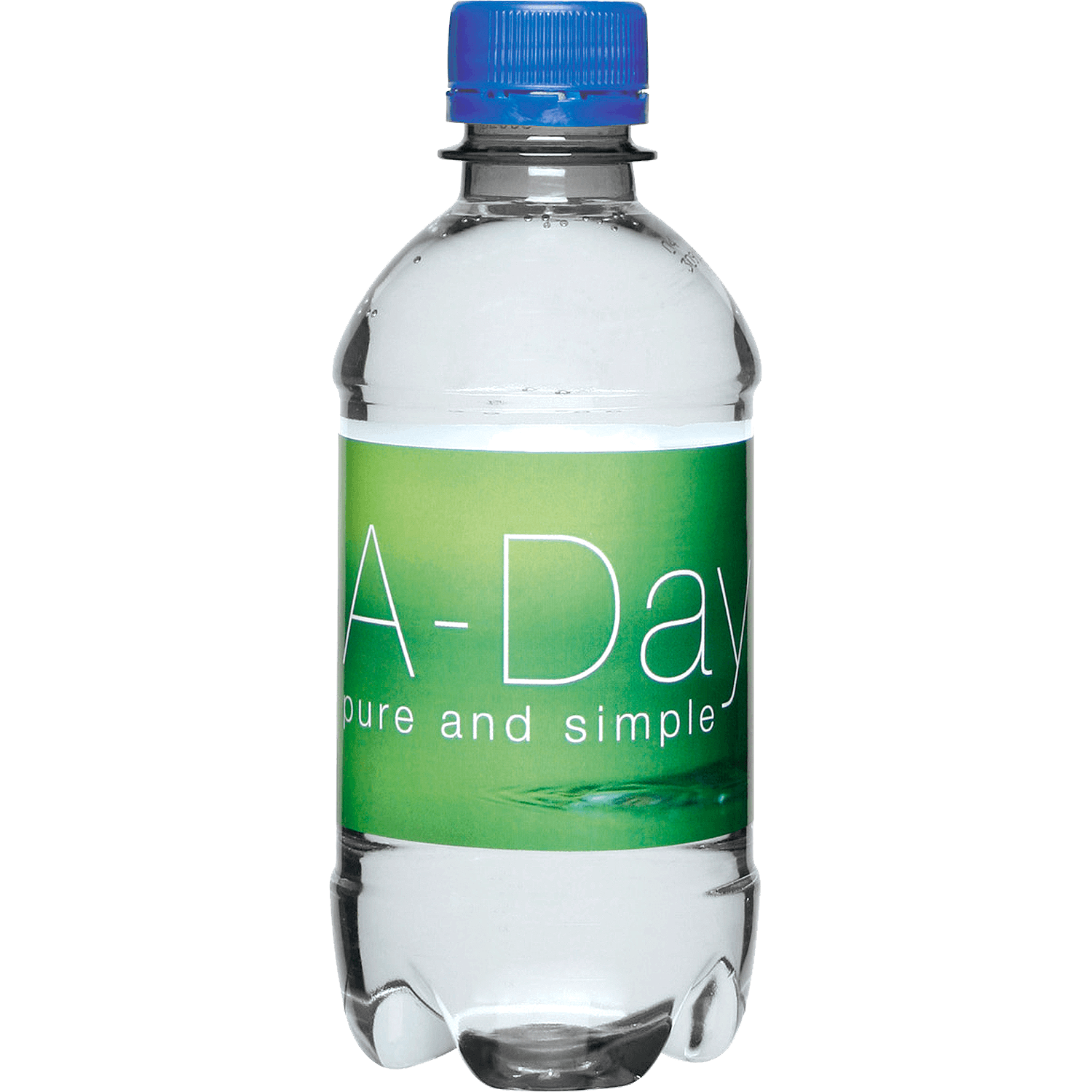 Clear Bottle - Blue Top