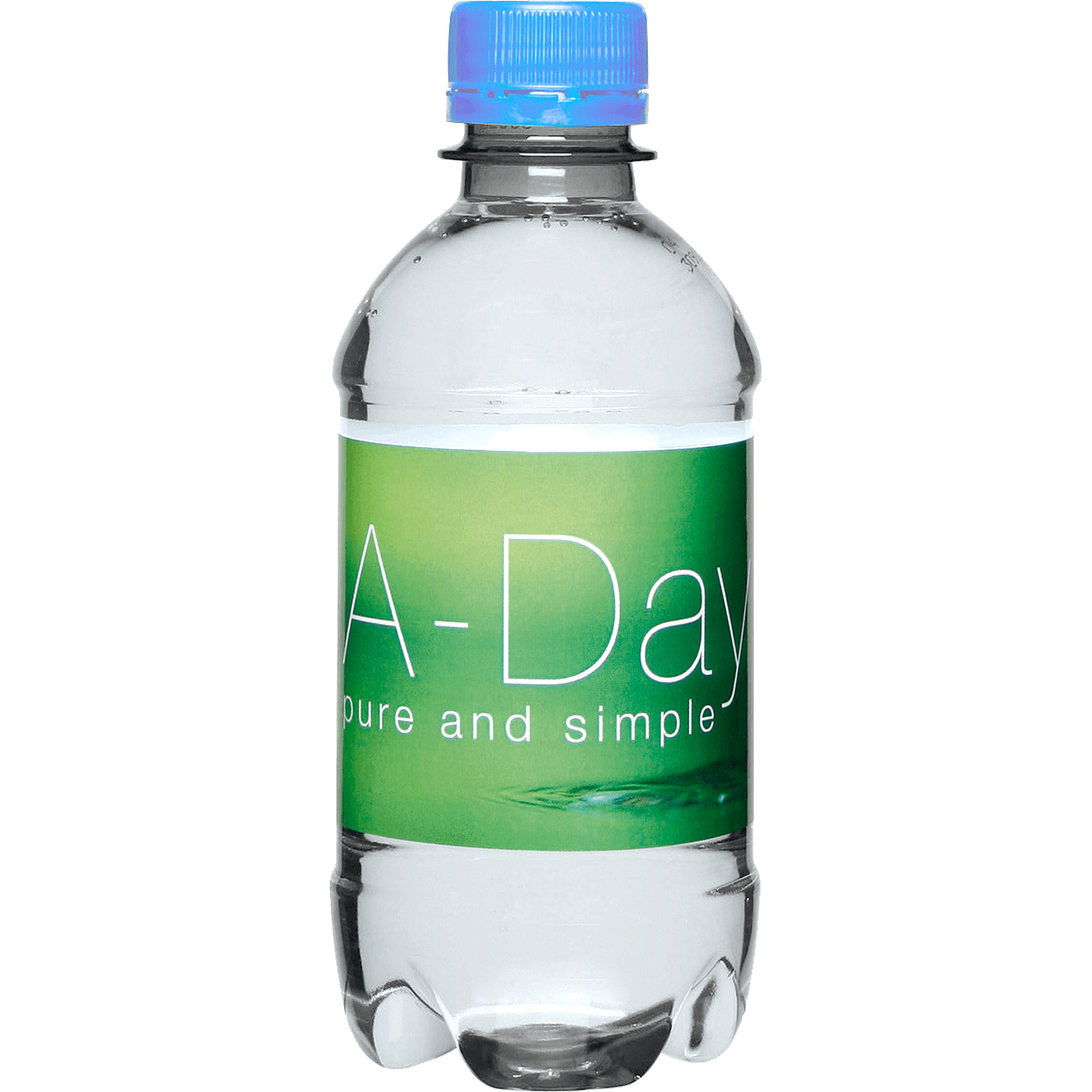 Clear Bottle - Light Blue Top