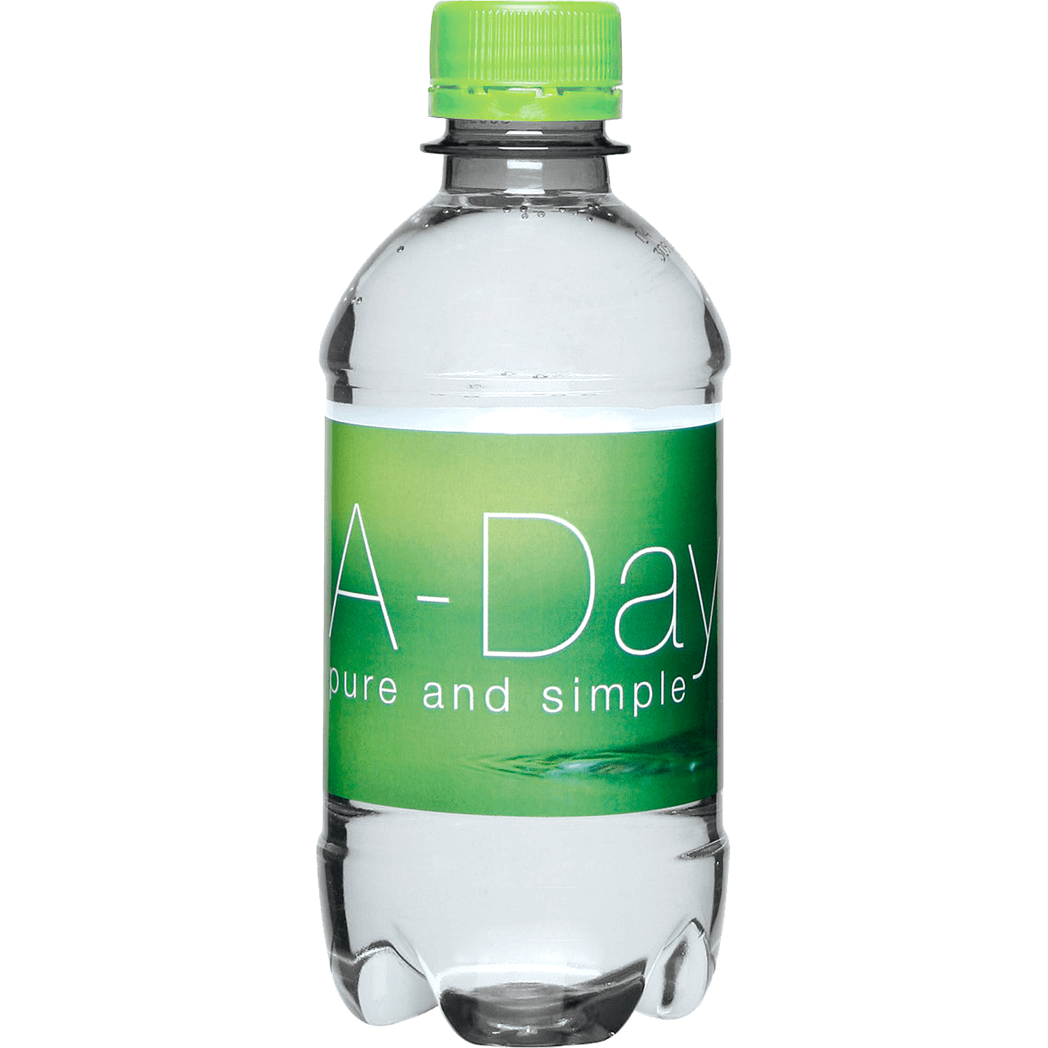 Clear Bottle - Lime Green Top