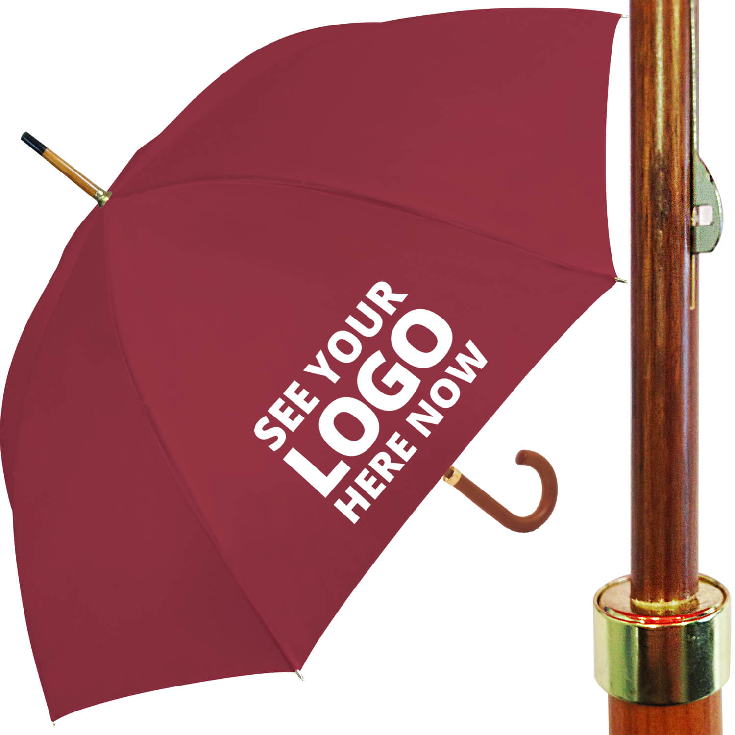 Budget Woodstick Umbrella