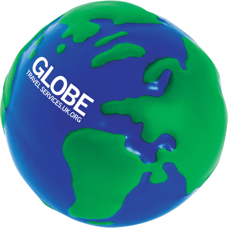 Earth Globe Stress Balls
