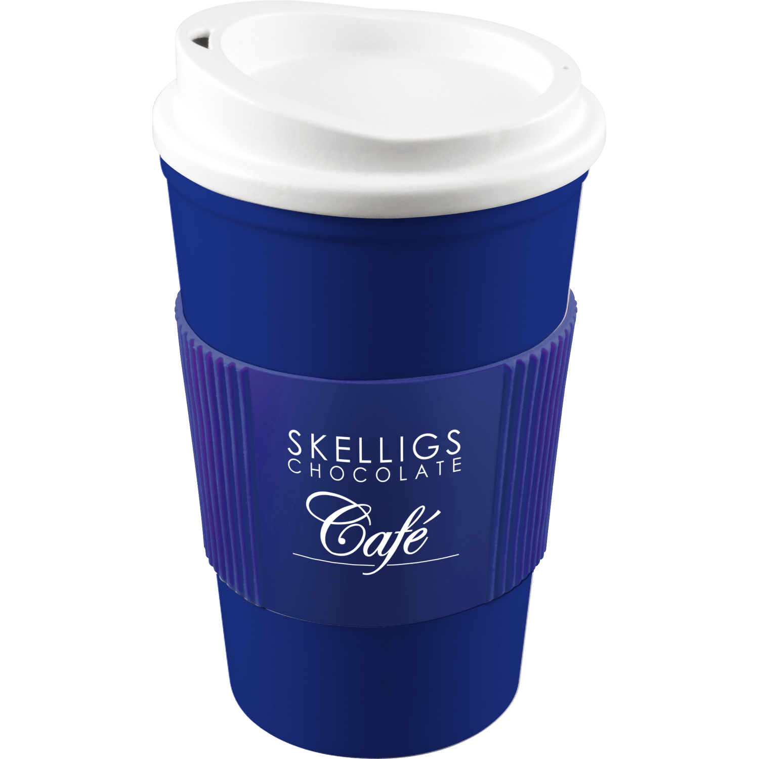 Blue Mug (280) - White Lid - Blue Grip (280)