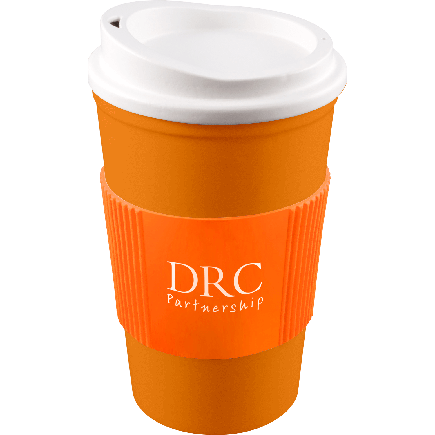 Orange Mug (151) - White Lid - Orange Grip (151)