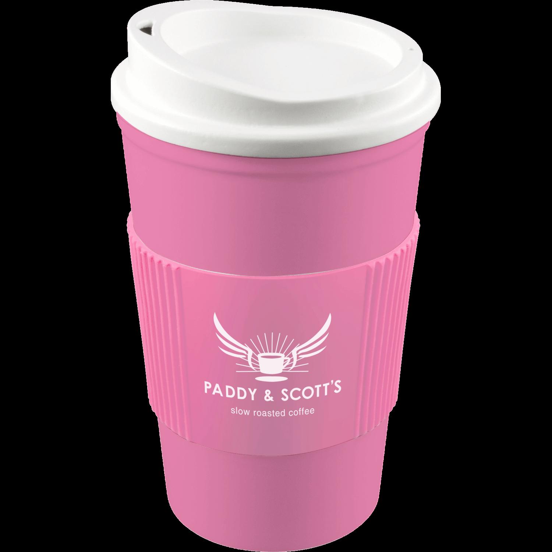 Pink Mug (211) - White Lid - Pink Grip (211)