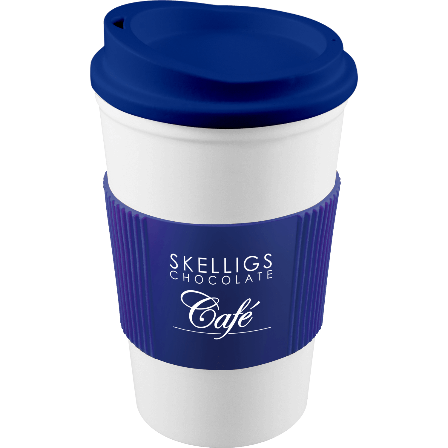 White Mug - Blue Lid (280) - Blue Grip (280)
