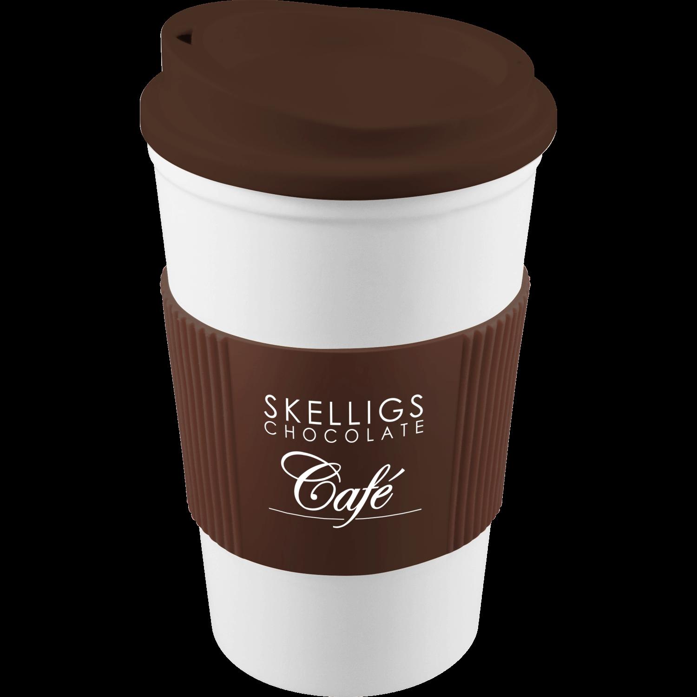 White Mug - Brown Lid (476) - Brown Grip (476)