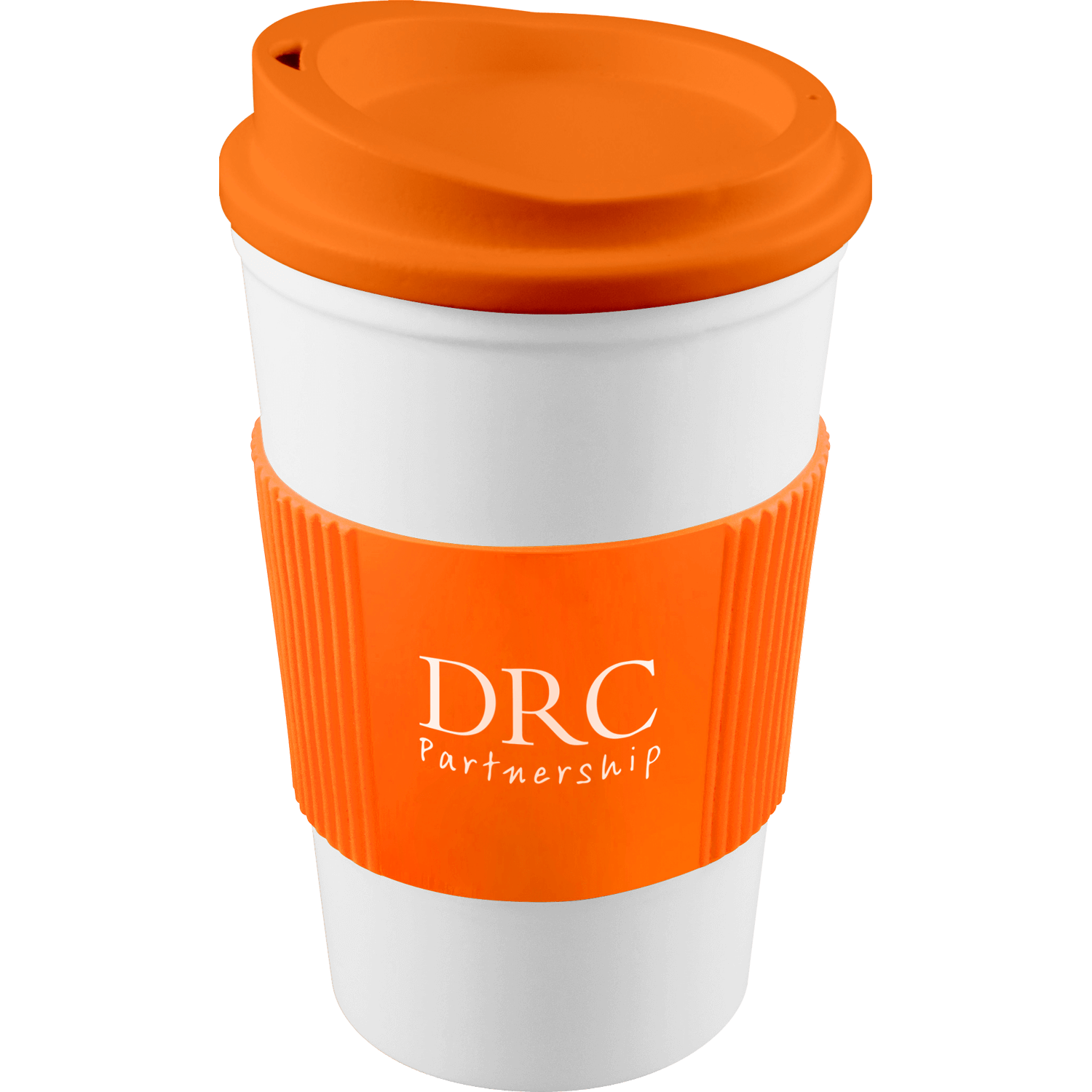 White Mug - Orange Lid (151) - Orange Grip (151)
