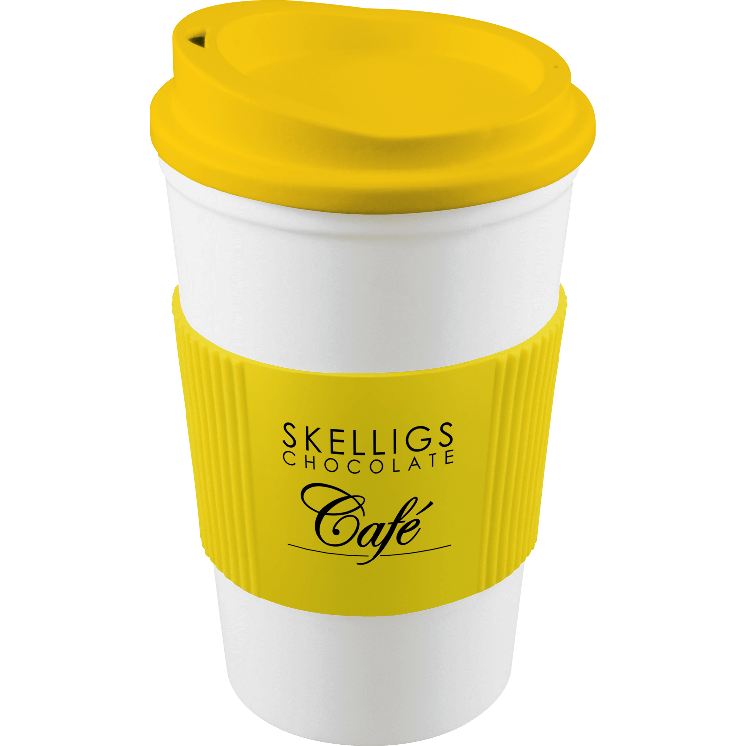 White Mug - Yellow Lid (114) - Yellow Grip (114)