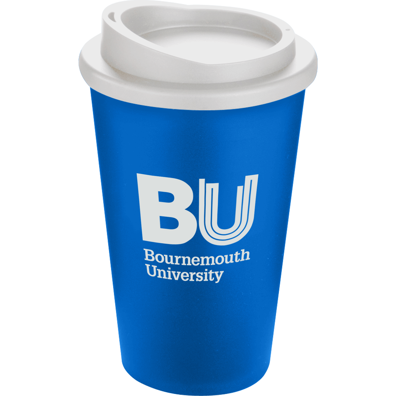 Mid Blue Mug (300) - White Lid