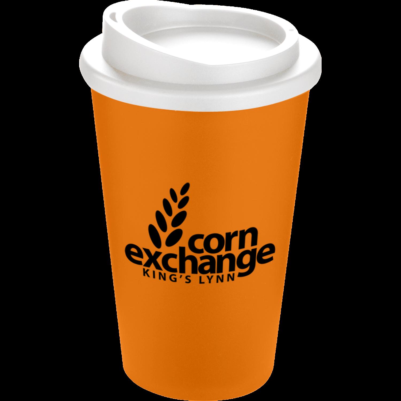 Orange Mug (151) - White Lid