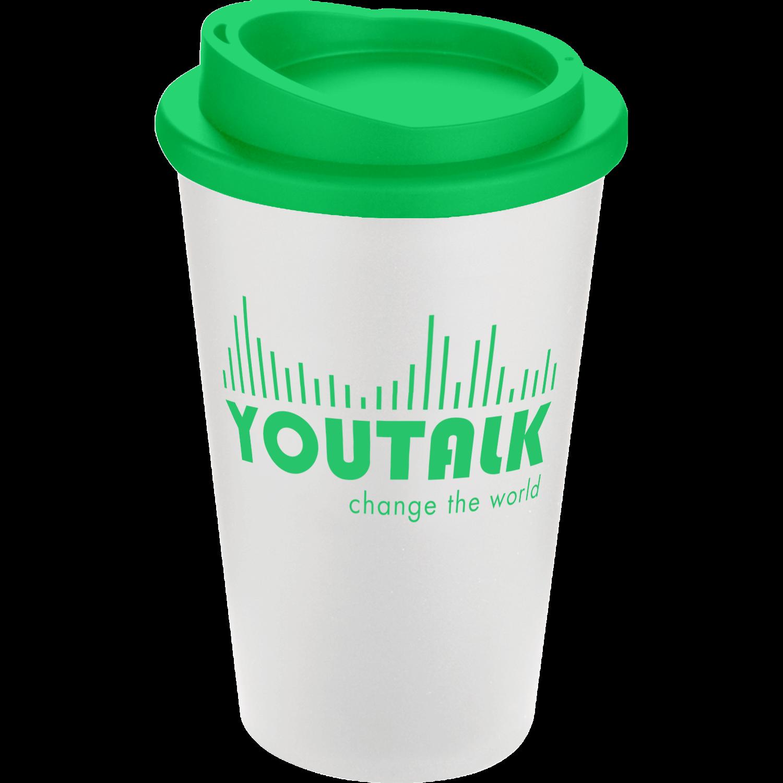 White Mug - Green Lid (7481)