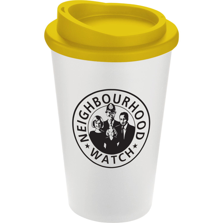 White Mug - Yellow Lid (114)