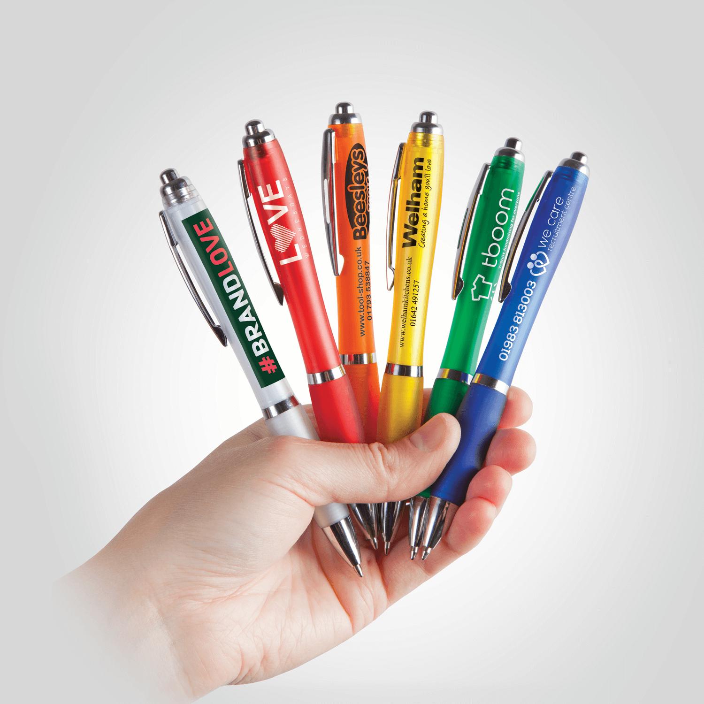 Curvy Printed Pens