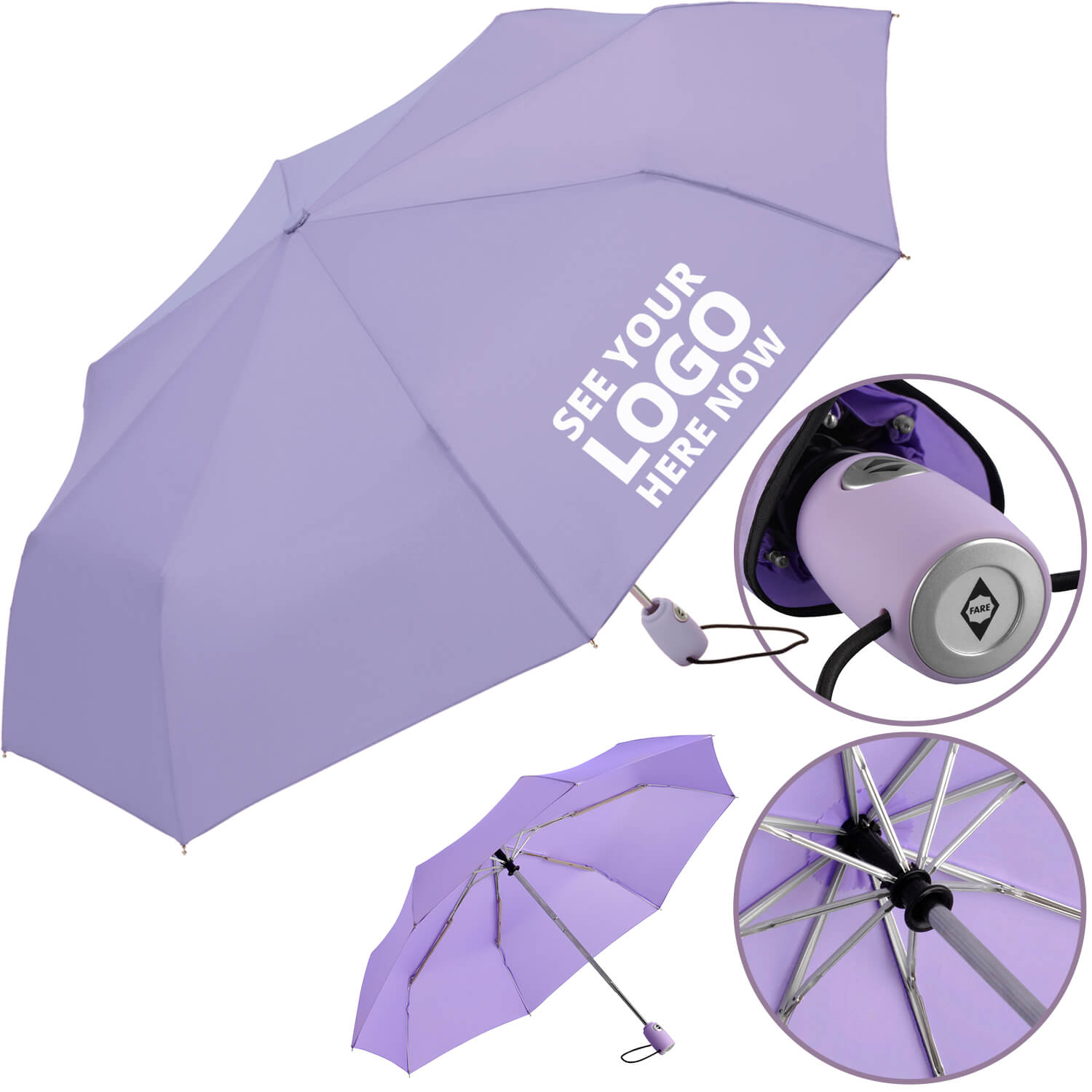 Fare Mini Automatic Promotional Umbrellas