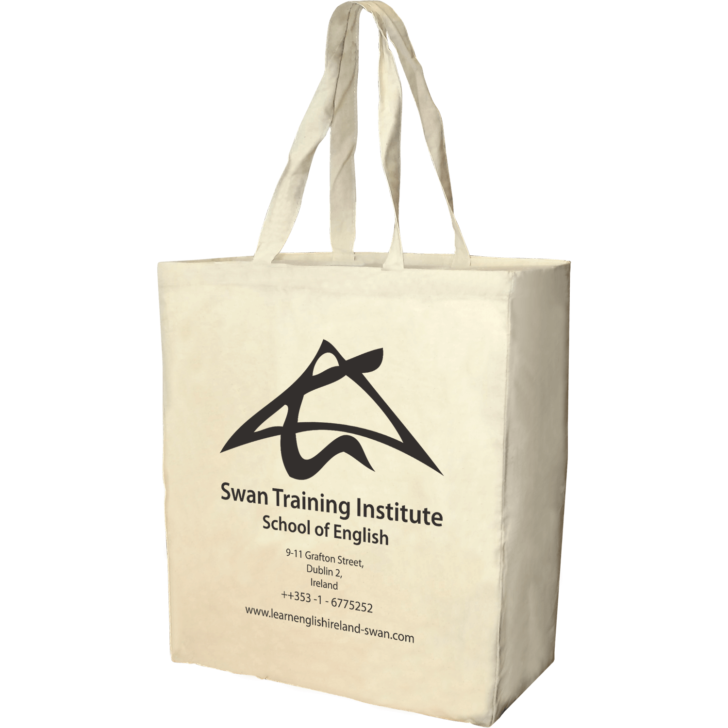 Natural Cotton Tote with Gusset
