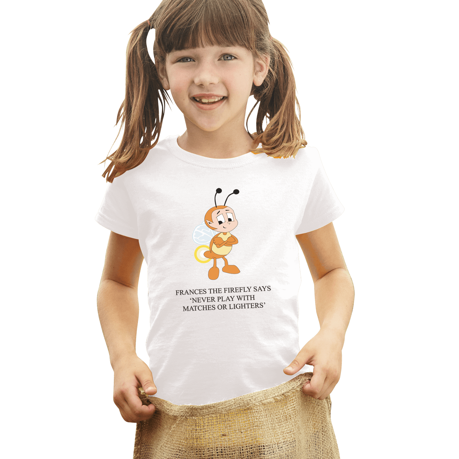 Full Colour Kids White T Shirt
