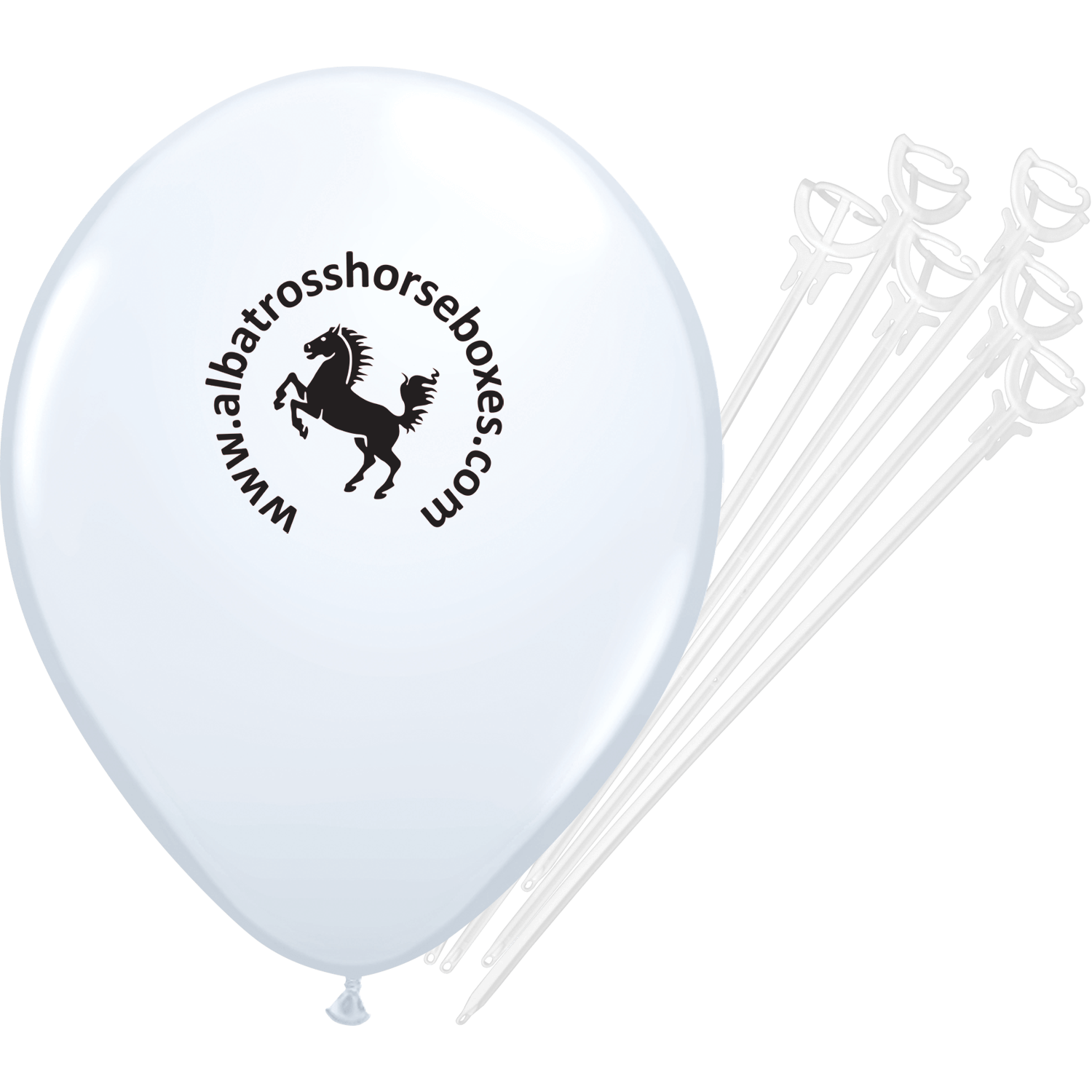 Printed Balloons with Sticks & Cups