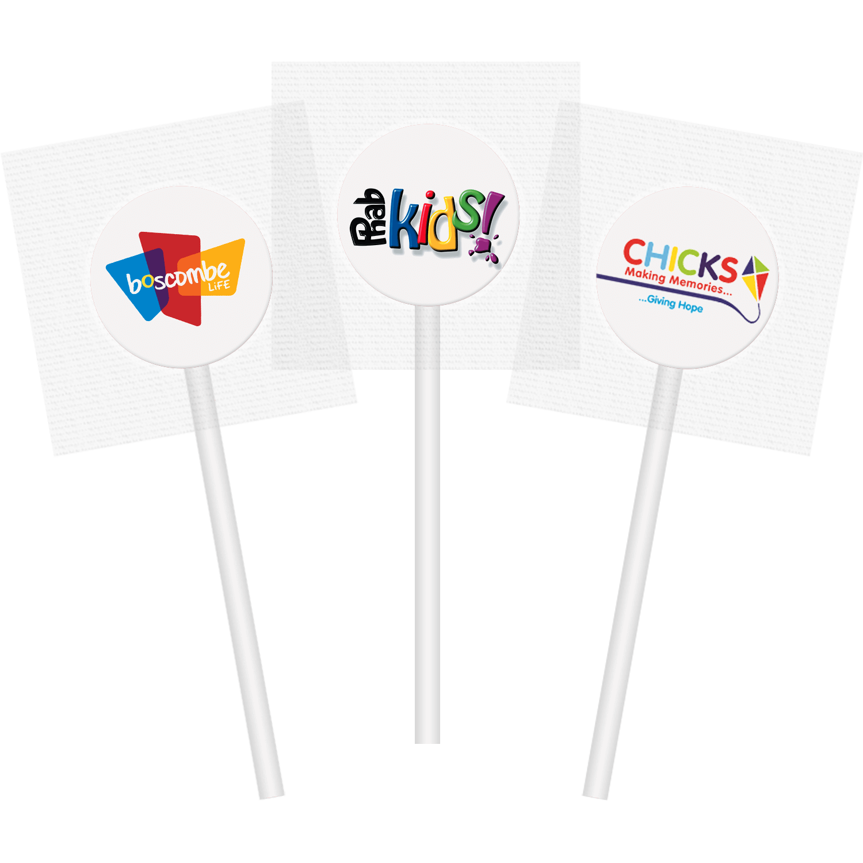 Promotional Flat Lollipops