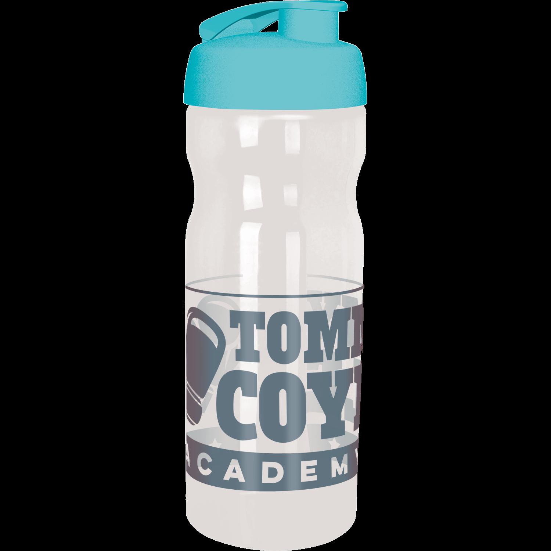 Clear Bottle - Aqua Flip Lid