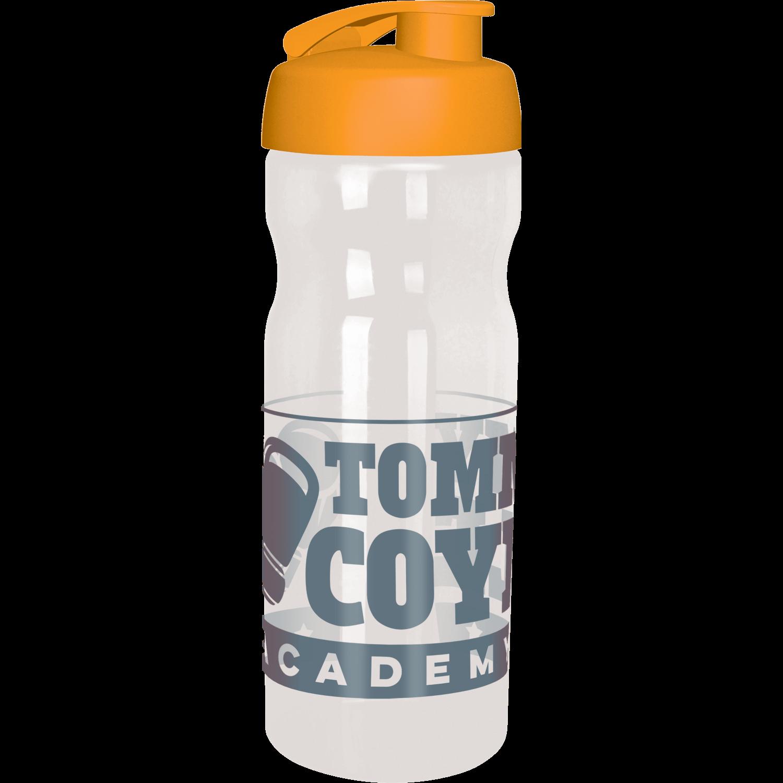 Clear Bottle - Orange Flip Lid