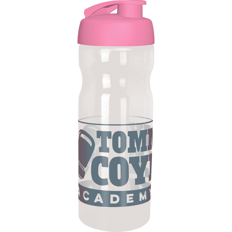 Clear Bottle - Pink Flip Lid